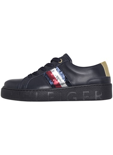 Tommy Hilfiger Kadın Sequıns Fashıon Sneakers FW0FW03704 Renkli